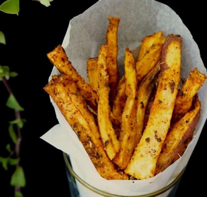Søde kartoffelfritter