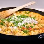 kylling og ris med fajita krydderiblanding