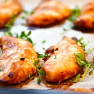 kyllingeinderfilet i ovn med hoisinsauce og soja