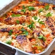 Kyllingeret med ris i ovn