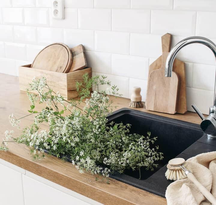 rengøring af køkkenfliser