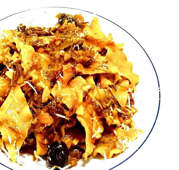 Anderagout med pasta