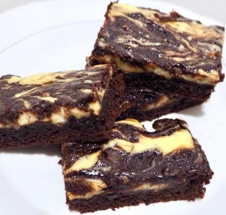 Brownies med cream cheese swirl
