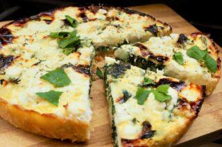 Vegetartærte med feta